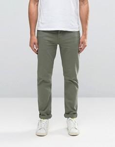 Зеленые стретчевые джинсы слим ASOS - Зеленый