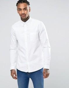 Белая оксфордская рубашка классического кроя ASOS - Белый
