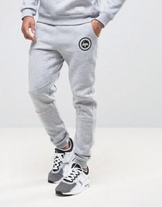 Зауженные спортивные брюки с логотипом Hype - Серый