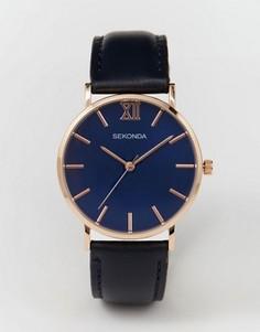 Часы с темно‑синим кожаным ремешком Sekonda эксклюзивно для ASOS - Темно-синий
