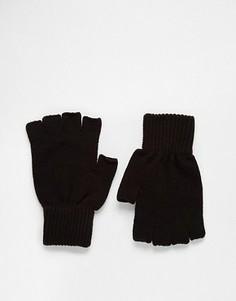 Черные перчатки без пальцев ASOS - Черный