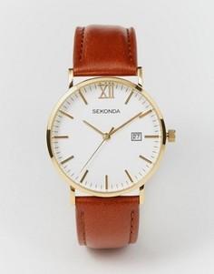 Часы с коричневым кожаным ремешком Sekonda 1112 эксклюзивно для ASOS - Коричневый