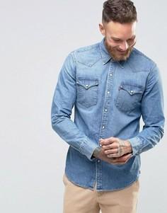 Cветлая джинсовая рубашка слим в стиле вестерн Levis Barstow - Синий Levis®