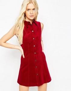 Вельветовое платье‑рубашка ASOS - Красный