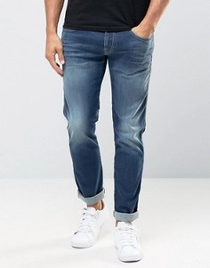 Суперстретчевые джинсы слим Replay Hyperflex Anbass - Синий