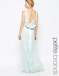 Свадебное платье макси с сатиновым бантом сзади TFNC Petite - Зеленый