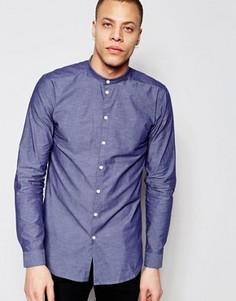 Рубашка с воротником на пуговице Minimum Darnell - Темно-синий