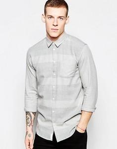 Повседневная рубашка в крупную полоску Minimum - Серый