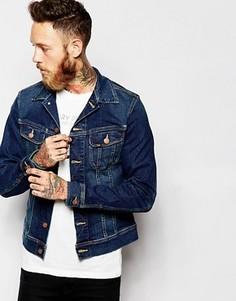 Джинсовая куртка с эффектом поношенности Lee Rider - Синий