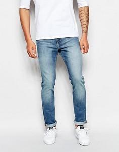 Хлопковые синие джинсы скинни Weekday Jeans Friday - Синий