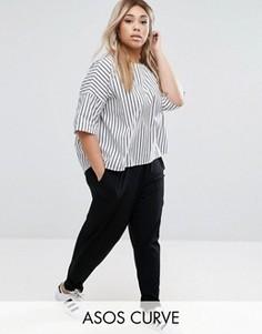 Трикотажные брюки‑галифе ASOS CURVE - Черный