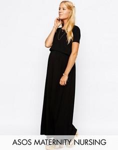 Платье макси для кормящих мам ASOS Maternity TALL - Черный