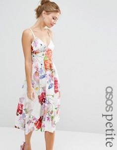 Премиум-платье миди для выпускного ASOS PETITE SALON - Мульти