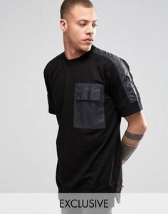 Свитшот с короткими рукавами и отделкой на кармане Black Eye Rags - Черный