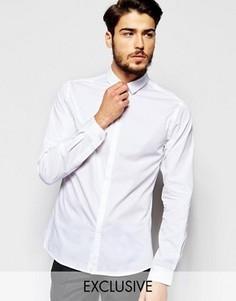 Рубашка скинни с миниатюрным воротником Noak - Белый