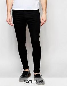 Черные стретчевые джинсы суперскинни Liquor & Poker - Черный