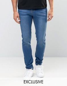 Эластичные джинсы скинни цвета индиго Liquor & Poker - Синий