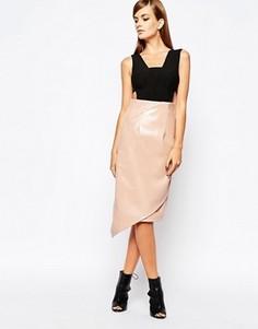 Платье-футляр 2 в 1 с полиуретановой юбкой The 8th Sign - Мульти