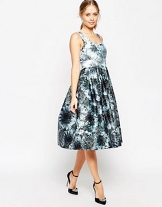 Платье миди для выпускного с цветочным узором ASOS Premium - Мульти