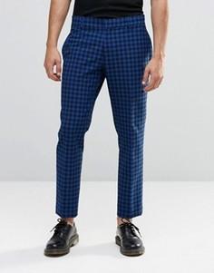 Укороченные облегающие брюки в клетку Religion - Синий