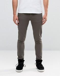 Супероблегающие джинсы цвета хаки ASOS - Зеленый