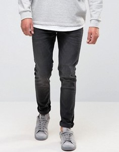 Черные выбеленные джинсы скинни плотностью 12,5 унции ASOS - Черный