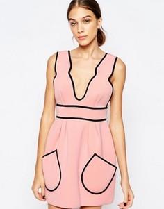 Розовое платье Alice McCall Cloudbursting - Розовый