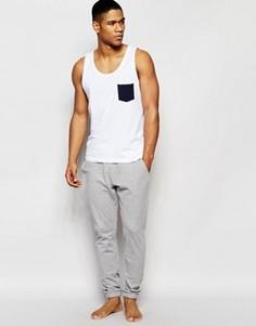 Серые меланжевые штаны в стиле casual из пике ASOS - Серый