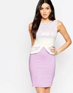 Платье-футляр с кружевным топом Vesper Ronnie - Фиолетовый