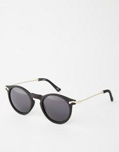 Круглые солнцезащитные очки с металлическими дужками ASOS - Черный