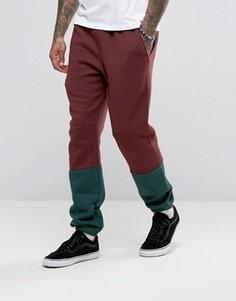 Спортивные штаны колор блок American Apparel - Красный