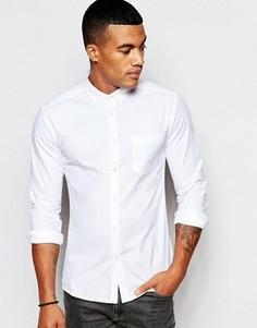 Белая супероблегающая оксфордская рубашка ASOS - Белый