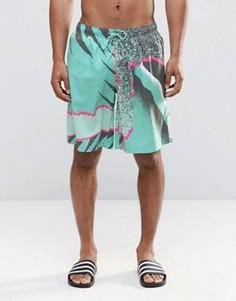 Пляжные шорты с графическим принтом Boardies - Зеленый