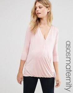 Топ для беременных с запахом ASOS Maternity - Розовый