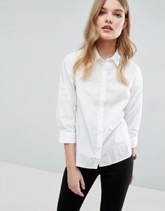 Белая рубашка с рукавами 3/4 ASOS - Белый
