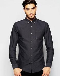 Оксфордская рубашка классического кроя ADPT - Серый
