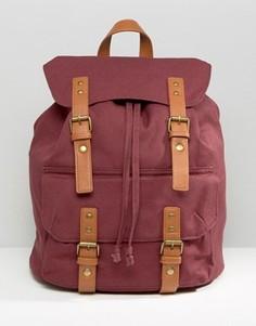 Элегантный холщовый рюкзак бордового цвета ASOS - Красный