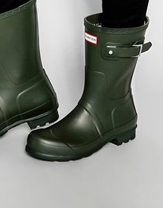Короткие резиновые сапоги Hunter Original - Зеленый