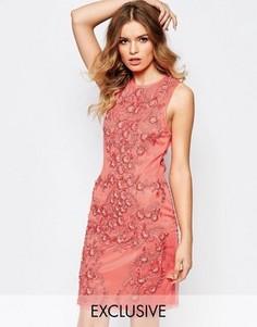 Декорированное платье мини в стиле барокко A Star Is Born - Оранжевый