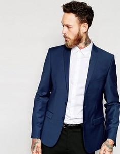 Темно-синий облегающий пиджак ASOS - Темно-синий