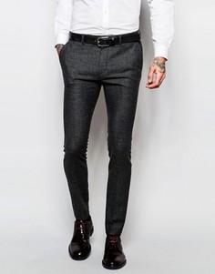 Ультразауженные серые брюки из твида ASOS - Серый
