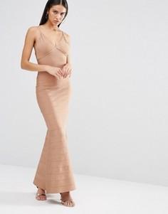 Бандажное платье макси на бретельках Missguided - Фиолетовый