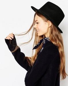 Фетровая шляпа с отделкой косичками ASOS - Новая улучшенная посадка - Черный
