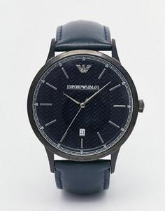 Часы с кожаным ремешком Emporio Armani Renato AR2479 - Синий