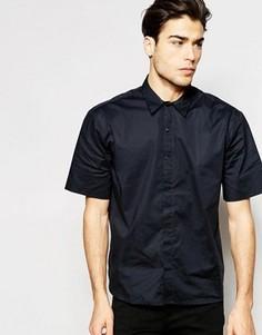 Oversize-рубашка с короткими рукавами ADPT - Черный