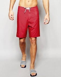 Пляжные шорты в полоску Abercrombie & Fitch - Красный