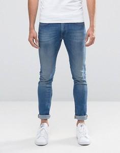 Синие эластичные джинсы скинни Lee Luke - Синий