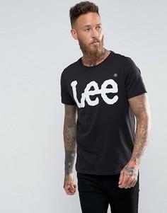 Черная футболка с круглым вырезом и принтом-логотипом Lee - Черный