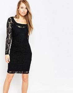 Кружевное моделирующее платье Body Frock Grace - Черный