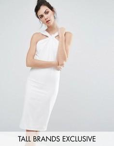 Платье-футляр с отделкой на горловине и узелком Paper Dolls Tall - Кремовый